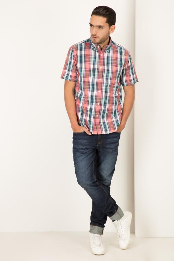 College Camisa Pronto Jax Button Down M/c 1/16