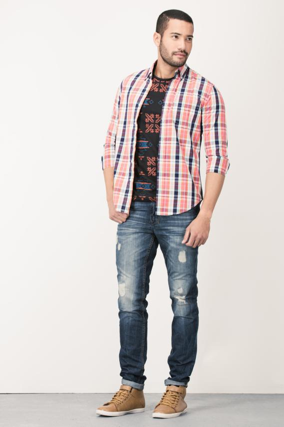 Basic Camisa Pronto Yves Button Down M/l 2/16