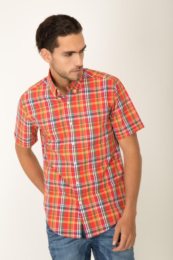 Koaj Camisa Pronto Orange Button Down M/c 2/1