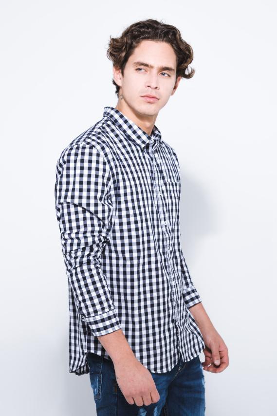 Jeanswear Camisa Koaj Aleky Sport Collar Ml 1/18