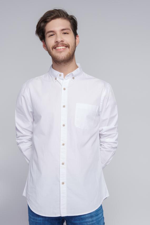 Jeanswear Camisa Koaj Basica 1 Button Down Ml 1/18
