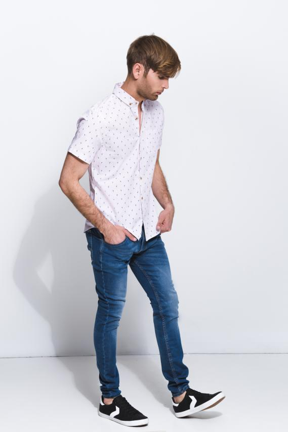 Jeanswear Camisa Koaj Laio Button Down M/c 1/18