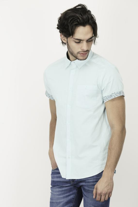Glam Camisa Koaj Bluemarine Super Slim Mc 3/1