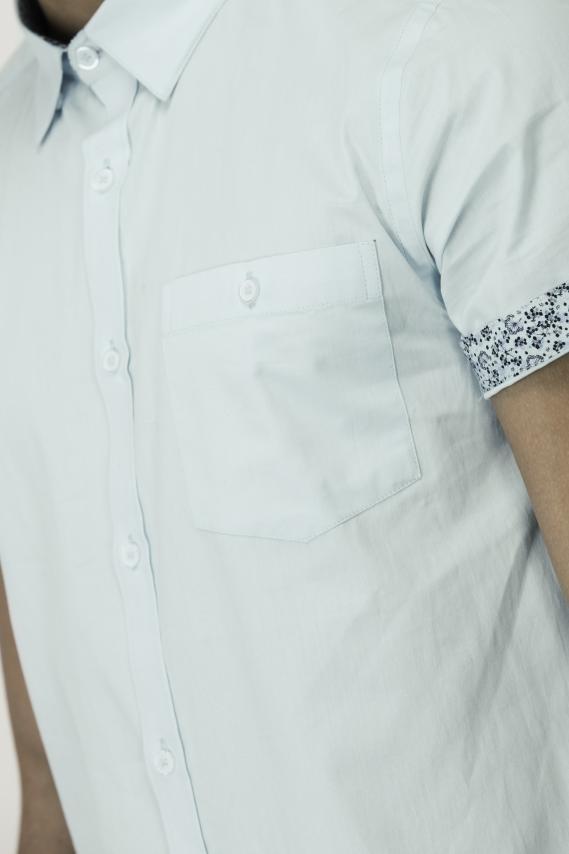 Glam Camisa Koaj Bluemarine Super Slim Mc 3/1