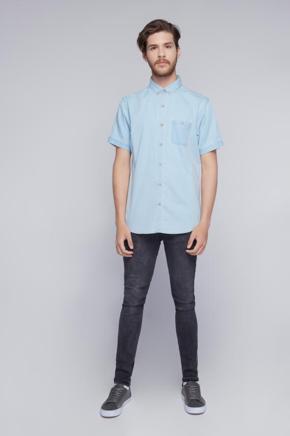 Jeanswear Camisa Koaj Basica B.d. Indigo Mc 3/18