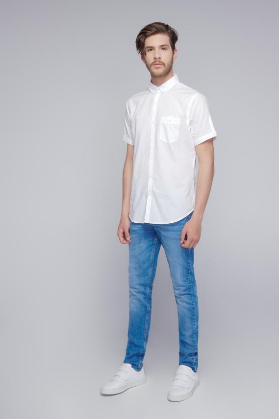 Jeanswear Camisa Koaj Basica 2 Button Down Mc 3/18