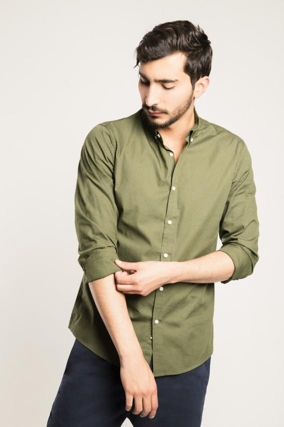 Basic Camisa Koaj Taman Button Down M/l 4/16