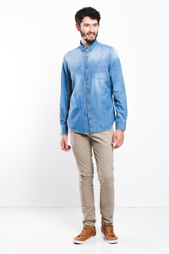 Jeanswear Camisa Koaj Poket 1 Button Down Ml 4/17