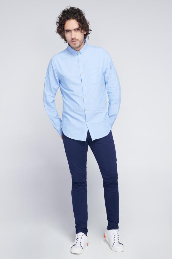 Jeanswear Camisa Koaj Eskol Button Down Ml 4/18