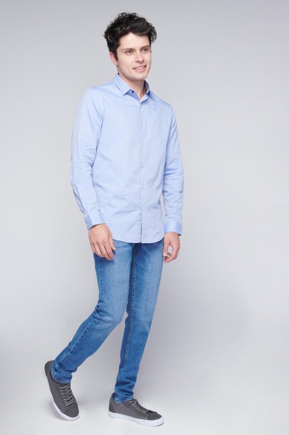 Chic Camisa Koaj Fayad C/mandarin M/l 4/18