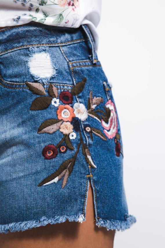 Jeanswear Short Koaj Flowert 2/18